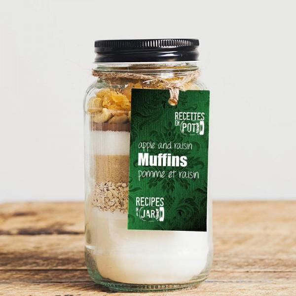 Muffins pomme raisin